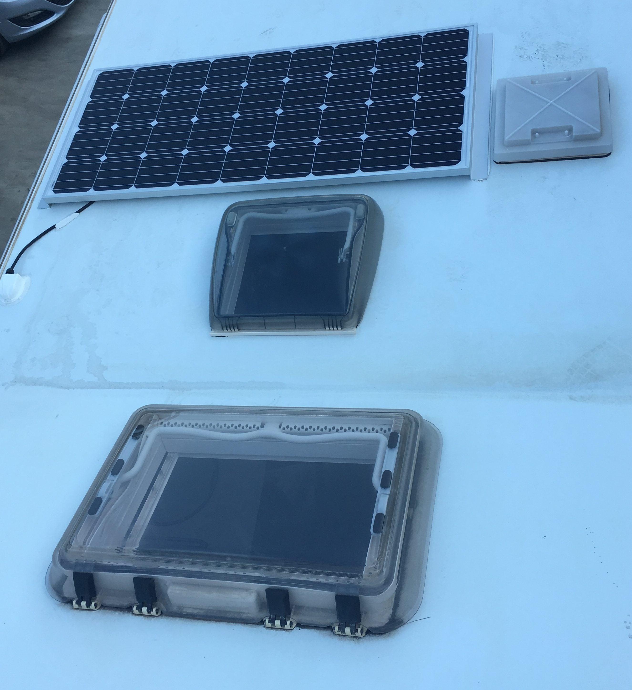 placa solar e inversor