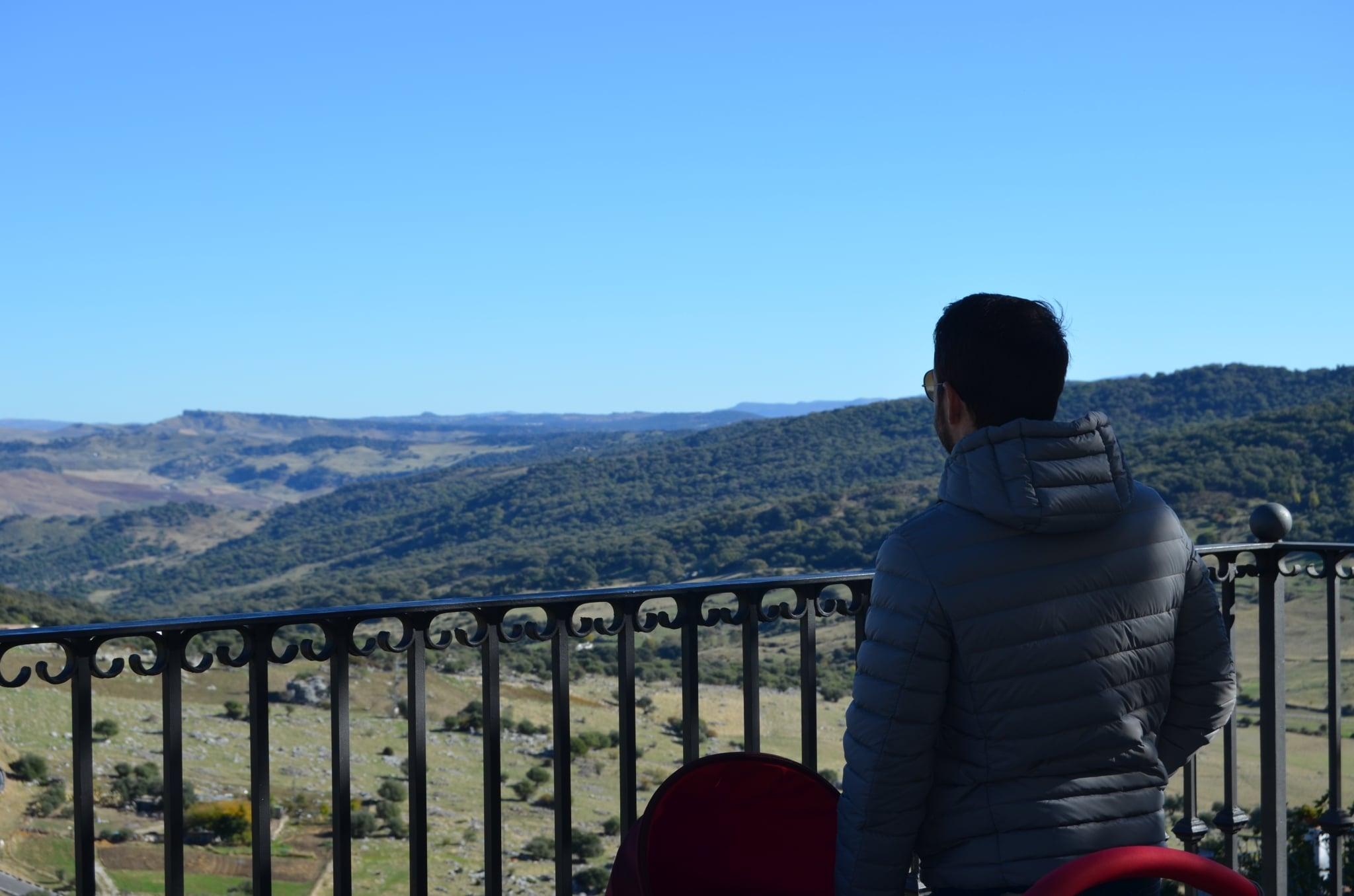 mirador grazalema, lugar pernoctar auticaravana