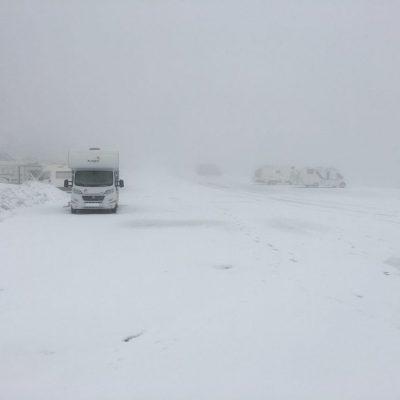 Viajar a la nieve en autocaravana